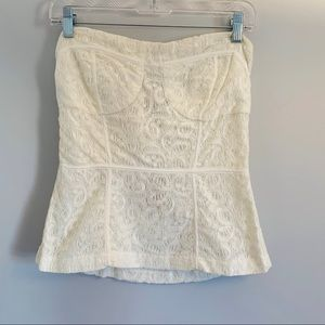 American Rag Strapless Lace Top